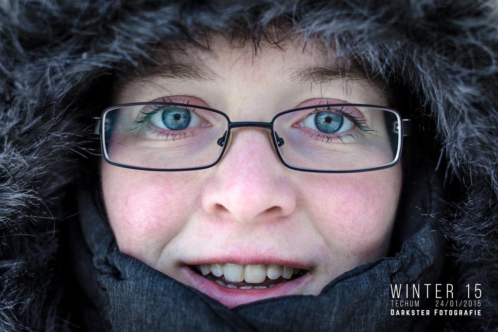 Winters portret in Techum
